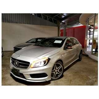 2013 UNREG MERCEDES BENZ A180 1.6 AMG ((( 3 YEAR WARRANTY ))) NIGHT VERSION JAPAN SPEC ( LOCAL FM & GPS , ELECTRIC SEAT WITH MEMORY )