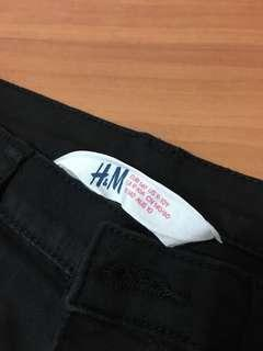 H&M black jeans for 9-10years old girls