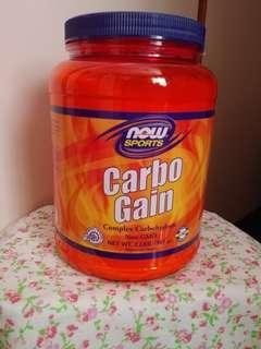 Now sports 糖粉 carbo gain 2磅 增重 增磅 complex carbohydrate