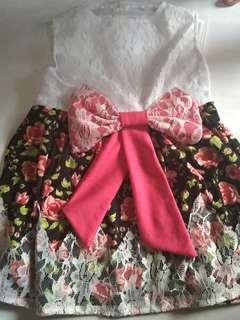 Dress brukat anak
