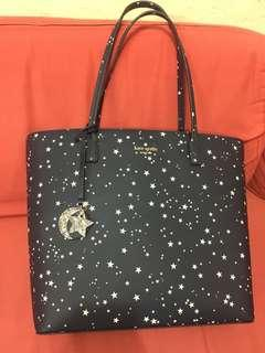 Kate Spade tote bag (navy with stars)
