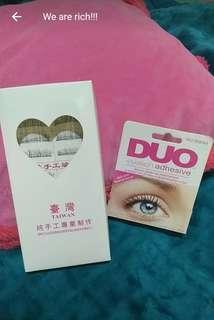 False Eyelashes Set ( falsies w/ Duo Glue)