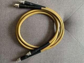 Cardas HEXLINK GOLDEN 5C Audiophile Cable RCA Interconnect Cable (1m)