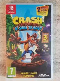 Crash Bandicoot N.Sane Trilogy game for Nintendo Switch