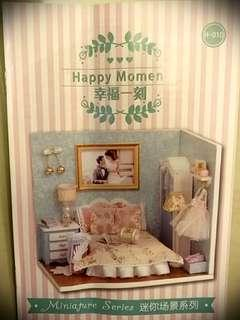 Customized DIY wedding gift doll house with lights