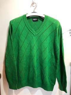 🚚 班尼頓。綠色毛衣