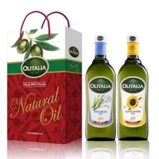 Olitalia奧利塔 玄米油+葵花油禮盒組(1000mlx2瓶)