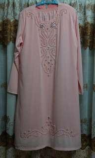 Beaded Peach Kurung 💕 FREE POSTAGE🔥