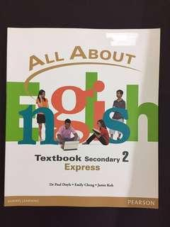 All about English for Secondary 2 Express ( with CD)