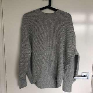 H&M Knit Jumper in Grey