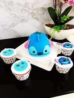 Customized Cartoon Themed Cake/CupCakes