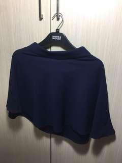 Dark navy blue skater skirt