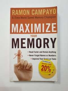NEW : Maximise your memory - Ramon Campayo