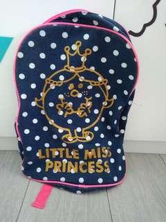 Cotton on kids little miss princess blue backpack bag