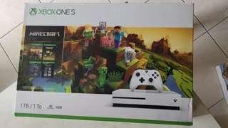 Xbox One S 1TB Minecraft New