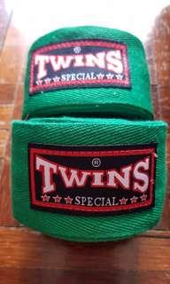 TWINS - Muay Thai Boxing Hand Wrap (Green)