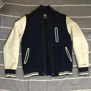 Nike NSW Destroyer Jacket bomber varsity 棒球外套 leather 皮
