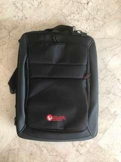 Notebook bag can use as backpack or sling