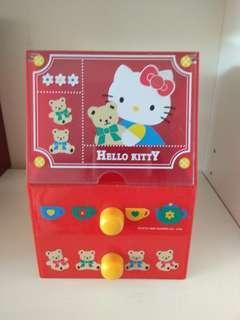 正版 绝版 日本 90年代Sanrio Hello Kitty 櫃桶 儲物櫃 文具 玩具