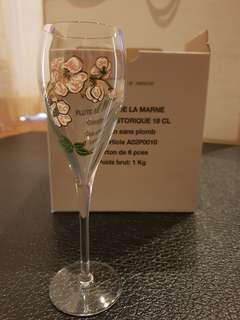 6 Perrier Jouet Champagne Crystal Flute Set