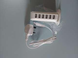Multi Plug USB Charger 6 Port Hub