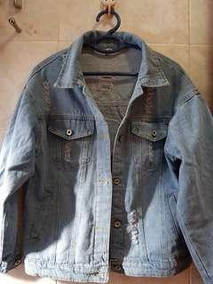 韓國Oversize Denim Jacket淺藍色牛仔外套
