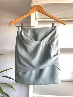 BRAND NEW Sheike Blue Suede Skirt