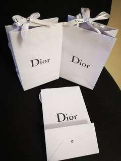 Christian Dior Paper Bag with Ribbon