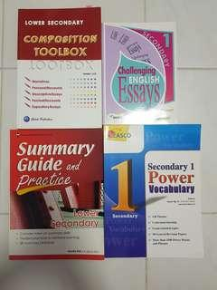 Lower secondary guide books and assessment books for English