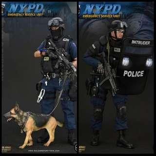 Ss100 & SS101 NYPD ESU Tactical Entry Team and K9 Unit