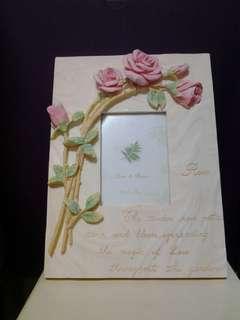 Rose Ceramic Photo Frame