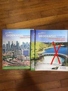 All About Geography Secondary 1 + 2 textbooks