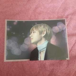 BTS Taehyung / V Transparent Postcard