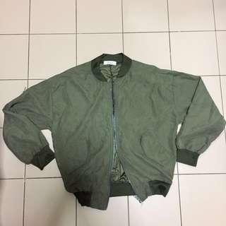 #POST1111 Army Green Bomber Jacket