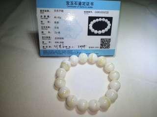 天然金丝砗磲手链10mm (Tridacna)