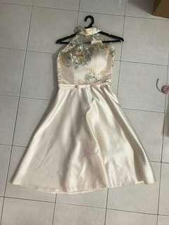 Champagne Embroidered Dress #PRECNY60