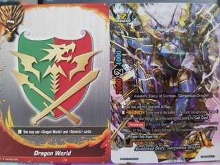 Buddyfight dragod trial deck with booster support
