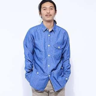 🚚 GYPSY&SONS C/L DANGAREE UTILITY WORK SHIRTS