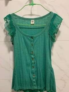 GG 5 Green Blouse