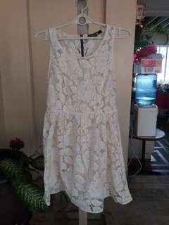 Forever21 Cream Lace Dress