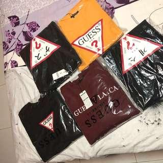 *ALL NEW* Authentic Guess Tees and Pullovers for Sale!