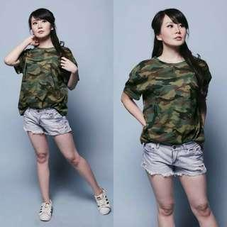 Oversized army top