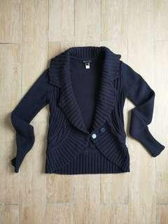 MNG Chunky Cable Knit Cardigan