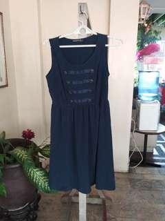 Atmosphere Blue Silky Sailor Dress