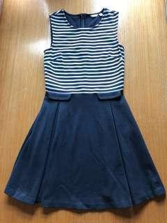 BN Jack Wills stripe pleated dress