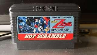 Mobile Suit Z Gundam Hot Scramble FC Nintendo Famicom Game 任天堂 紅白機 遊戲帶