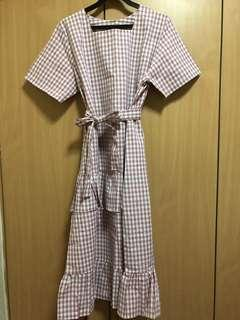 BNIB the paperdoll live checked gingham dress in pink