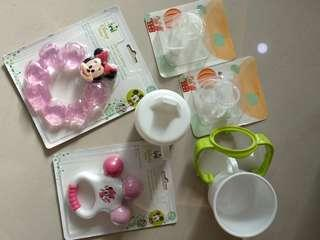 Teether, Bottle Straw, Bottle Handle, Drinking Cup, Mini Bowl