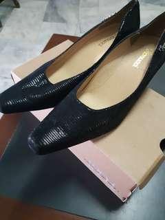 Fiorucci Leather Black Heels