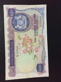 Singapore orchid series $100 note for sale !